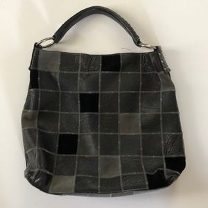 Lucky Brand suede and leather patchwork bag